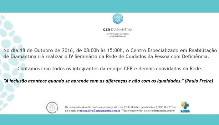 IV Seminário da Rede de Cuidados da Pessoa com Deficiência
